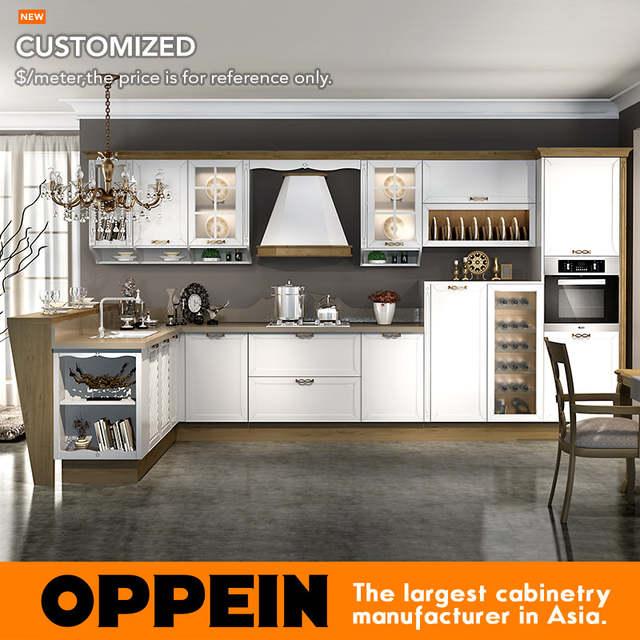 Professional Kitchen Cabinet Blum Hardware Kitchen Cabinet Guangzhou Modern Wood Matte Pvc Kitchen Cabinet Op16 041