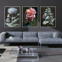 Canvas painting wall art prints plant poster Frameless printing Flower decorative pictures for living room