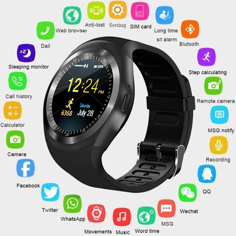 Image 5 - Bluetooth Smart Watch Phone Mate Round Screen Smartphone SIM Call Dial Pedometer Smartwatch for Android IOS reloj inteligente-in Smart Watches from Consumer Electronics