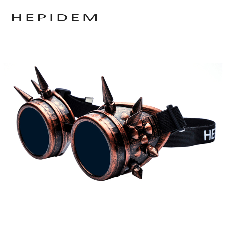 Rivet Welding Goggles Gothic Steampunk Sun Glasses Hipster Cosplay Antique Spikes Vintage Victorian Nails Hippie Sunglasses mont cyber goggles steampunk glasses vintage retro welding punk gothic victorian durable goggles glasses sunglasses 2016 hot sale