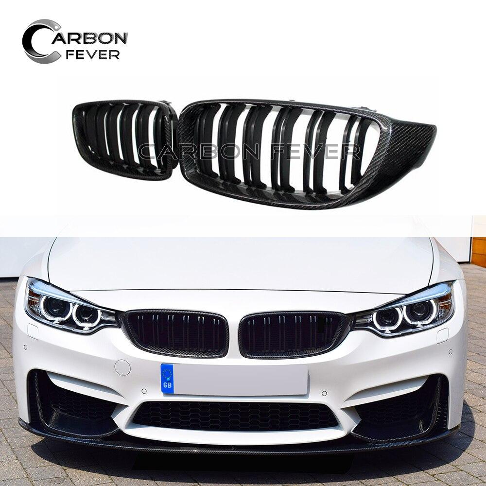 Grille à 2 lamelles couleur M brillant pour F32 F33 F36 F82 ABS noir brillant pour BMW série 4 F83 M3 M4 Grille avant