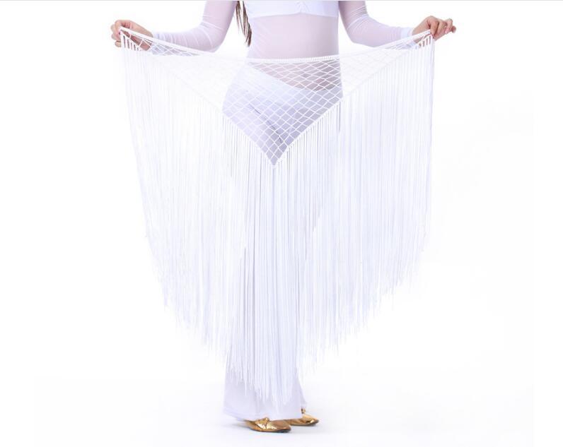 Hand Crochet Triangle Belly Dance Hip Scarf Belt For Women Performance Argentina Dance Costumes Belly Waist Chain Skirt