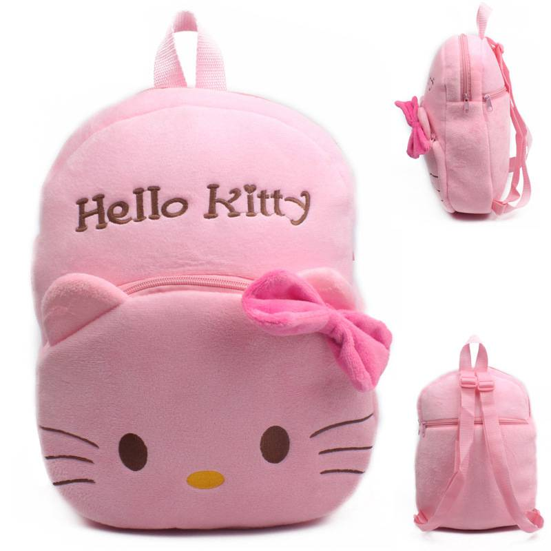 10ba1c3f32 Wholesale Baby Girls School Bags Kawaii Cartoon Anime Hello Kitty Children  Shoulder Bags Backpacks Brinquedos Menino Dj111-in Plush Backpacks from  Toys   ...