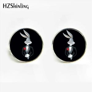 HZShinling Cartoon Baby Bunny Cufflinks Vintage Cute Bunny Cufflinks  Shirt Cuff   Father's Present