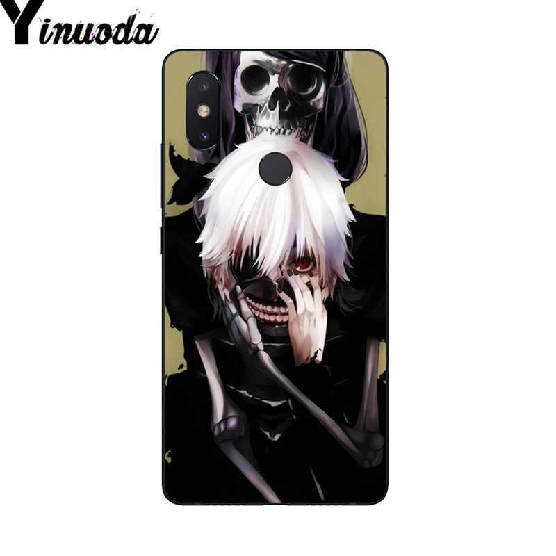 Yinuoda, blanco y negro, Anime Tokyo Ghouls funda de teléfono para Xiaomi Mi 6 Mix2 Mix2S note 3 8 8SE Redmi 5 5Plus note 4 4X Note5
