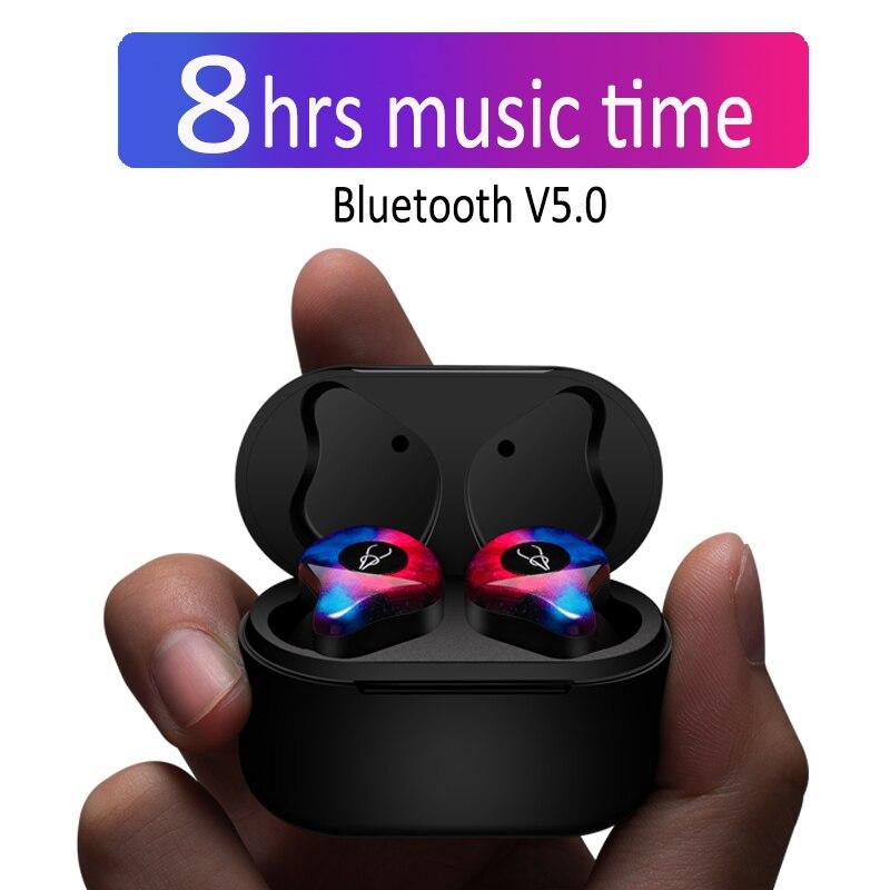 Profesional gemelos Mini 3D sonido estéreo Bluetooth auricular Invisible sin hilos verdadero impermeable auriculares de deporte con Banco