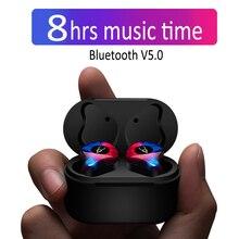 Профессиональные Близнецы мини 3D звук стерео Bluetooth наушники Невидимый True Беспроводной Водонепроницаемый спортивные наушники с Мощность банк