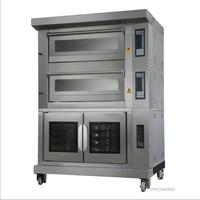 Comercial de gás/forno elétrico tanque de fermentação bandejas bandejas forno + 10 4 Multi função de integração do forno de Pão/ pizza/torta de cozimento máquina|Fornos| |  -