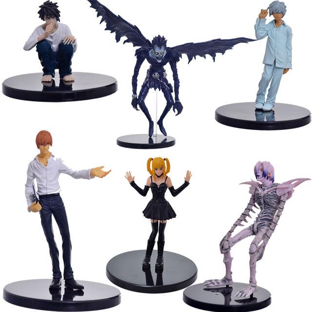 6 Pcs Anime Death Note L Killer Action Figures