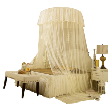 Hanging Mosquito Net Multi-color Elegant Mosquito Curtain Lace Single-door Circular Bed Tent Mesh Home Decoration Bed Netting