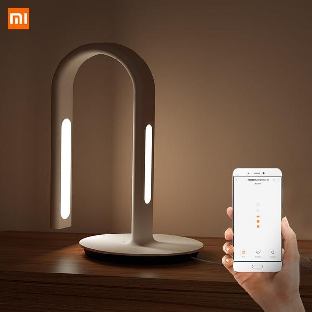 Original Xiao Mi Mi Jia 2 Xiao Mi EyeCare APP ควบคุมสมาร์ทโคมไฟตั้งโต๊ะแบบคู่ Xio Mi mi Home Mi Store สีขาว 62
