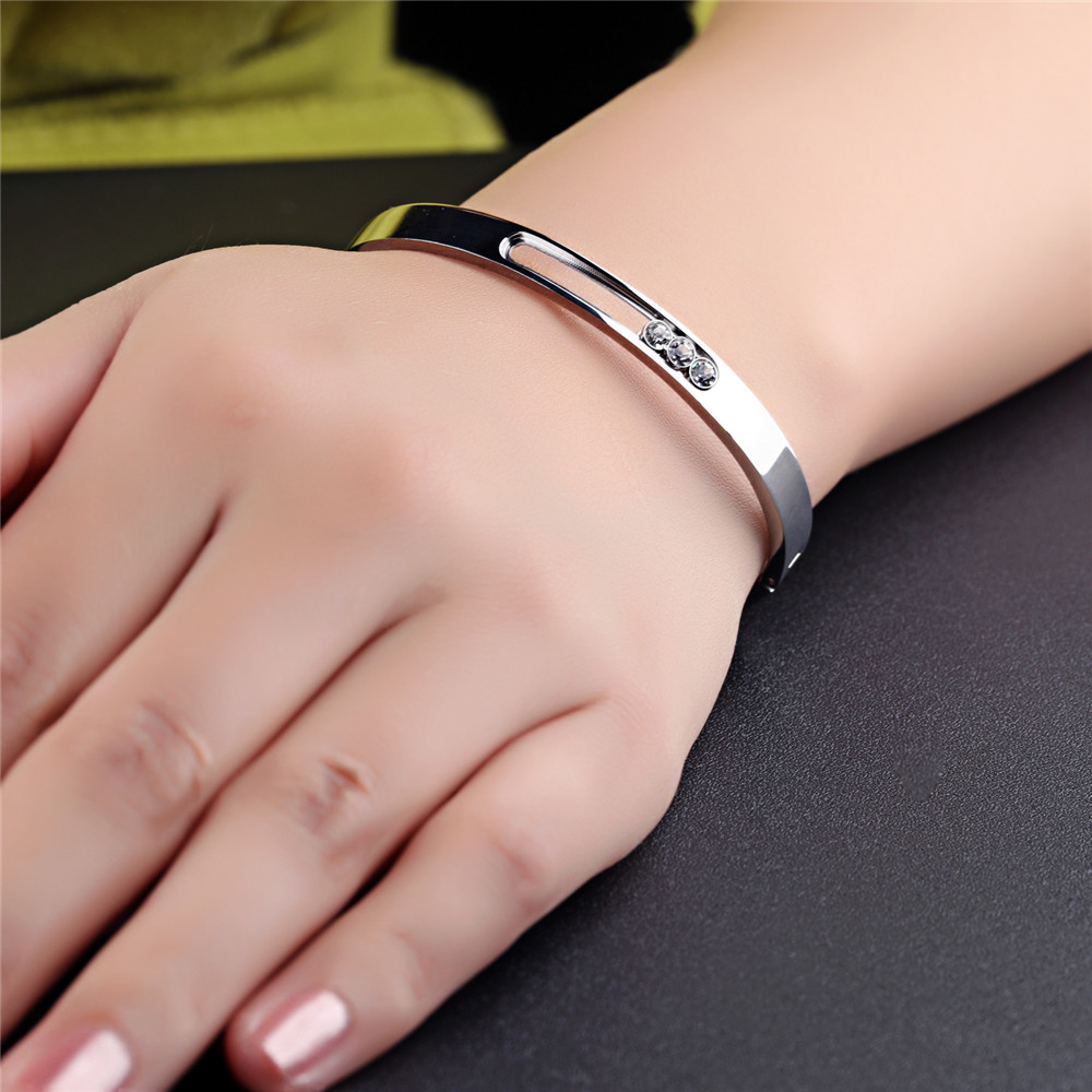GAGAFEEL DIY Logo Bracelets For Women Stainless Steel Cuff Bangles ...
