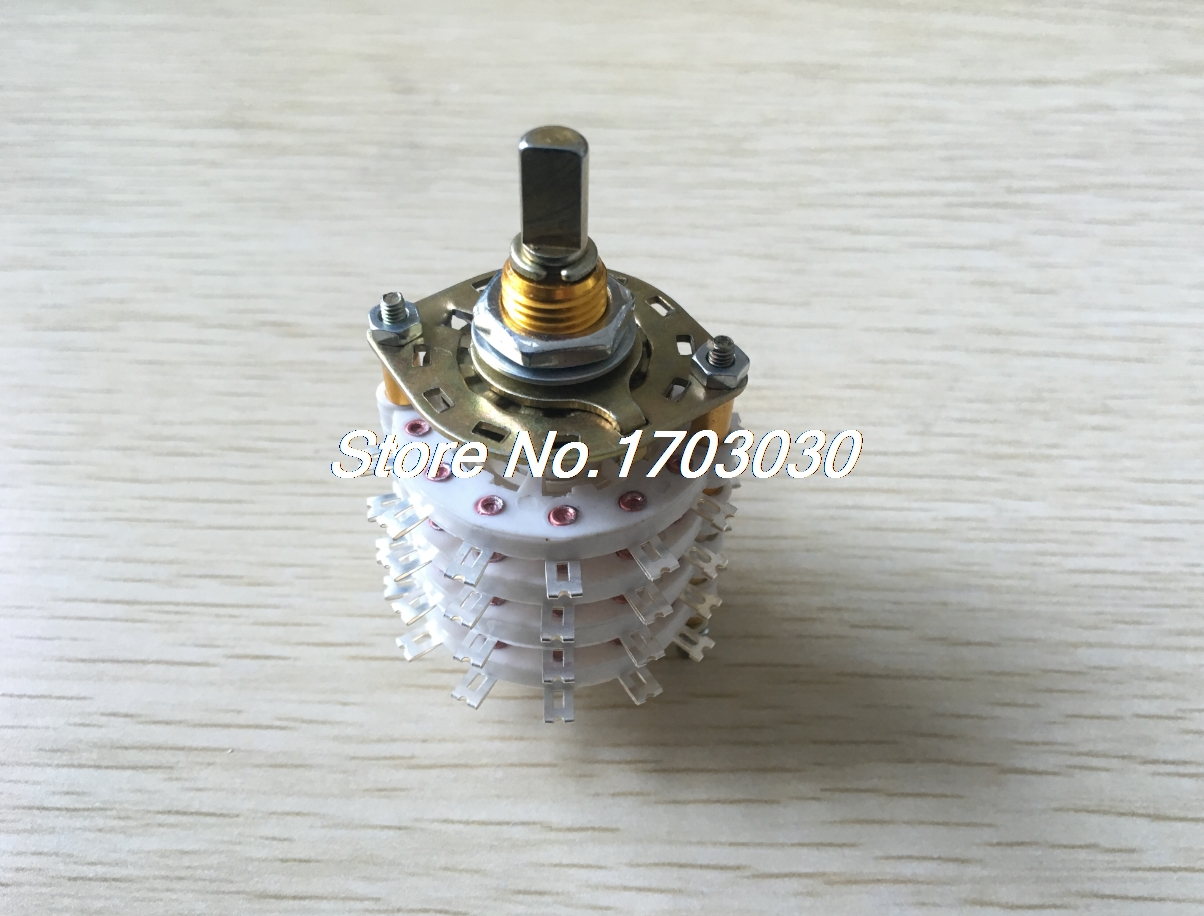 цена на 6mm Dia Shaft 8P5T 8 Pole 5 Position Band Channel Selector Rotary Switch