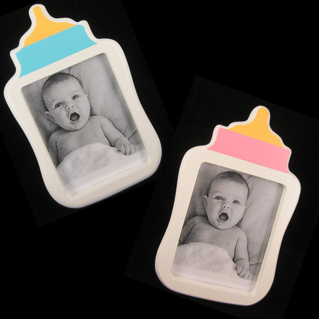 1pc 3x4classic Baby Bottle Photo Frame Wooden Picture Frame Its A