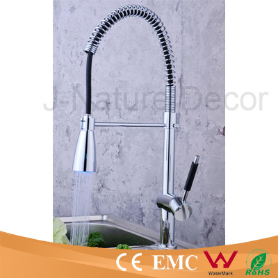Water saving led kitchen sink faucet spring kitchen water tap
