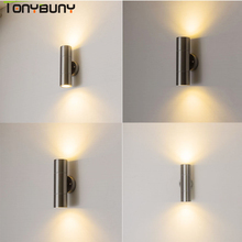 AC110V-260V Wall Sconce IP65 LED light up down wall lamp nordic stainless steel led bedroom lamps mounted lights