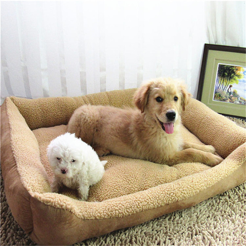 Camel Bed House For Dog Cat Pet Winter Bed Sofa soft fleece Fabric Puppy Bed Litter Dog Bed M L XL three size <font><b>Cushion</b></font> Supplies