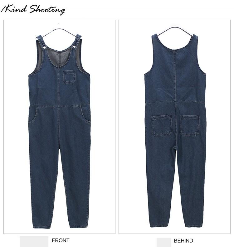 e1f64da129 Classic Thin Denim Overall Jeans Women jumpsuit Tight High Waist ...