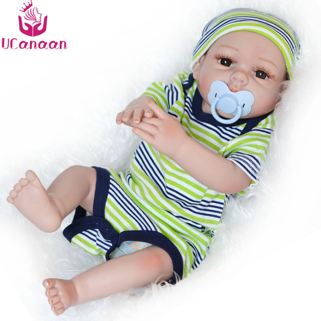 UCanaan 50CM Soft Silicone Doll Reborn Handmade Toys For Children Baby Lifelike Alive New Born Dolls Realistic Bonecas Kids Toys