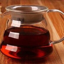 1 шт. 3 размера высокотемпературный стеклянный кофе ручной облачный чайник 360 мл 500 мл 750 мл JQ 1073