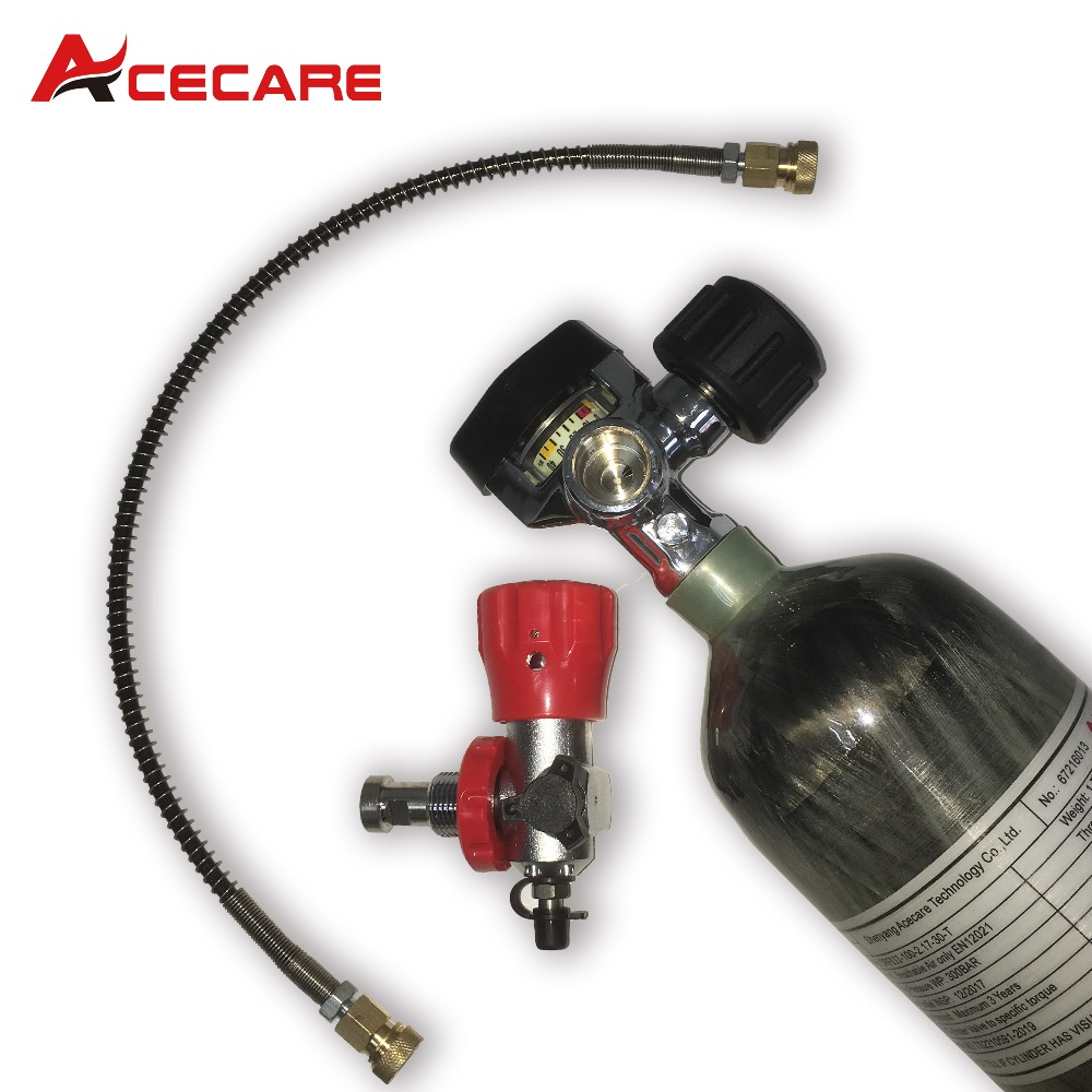 AC102201 Scuba Diving Tank 2.17L Pcp Air Tank 30Mpa Carbon Fiber Cylinder High Pressure Air Cylinder For PCP Rifle From Acecare
