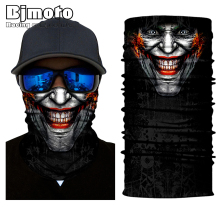 Biker Clown Face Mask Sun Shield Neck Gaiter Neckerchief Bandanna Headband Face Mask Shield Ski  Sun Scarf Neck Gaiter Balaclava