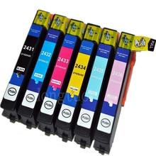 1Sets Compatible Ink Cartridge T2431 24XL For T EXPRESSION PHOTO XP-55 XP-760 XP-850 XP-860 XP-950 XP-750 printer все цены