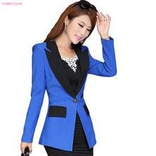 9ec5ad0027a24 Otoño señoras abrigos de nueva moda de botón de la Oficina