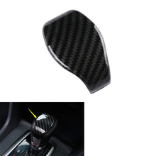 YAQUICKA Car Interior A/T Gear Shift Knob Head Cover Trim Styling Sticker For Honda Civic 2016 2017 ABS Carbon Fiber Style
