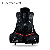 2018 DAIWA outdoor New oversized buoyancy wind fly Fishing vest vest breathable detachable lifejacket help candle