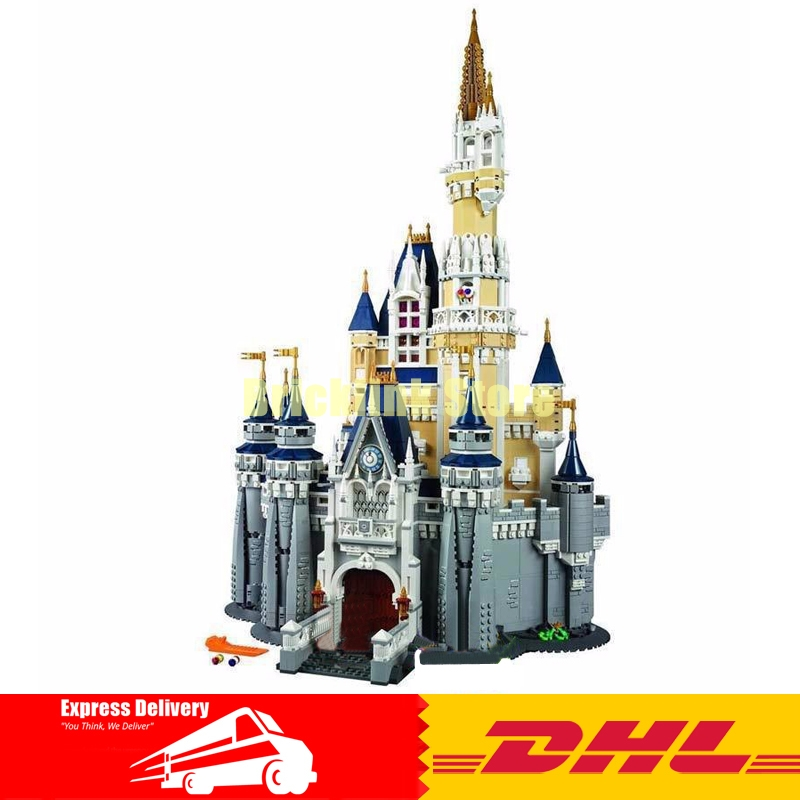 DHL Lepin Building bricks 16008 4080Pcs Cinderella Princess Castle City Model Building Blocks Toys for Children Gifts 71040 lepin 16008 creator cinderella princess castle city 4080pcs model building block kid toy gift compatible 71040