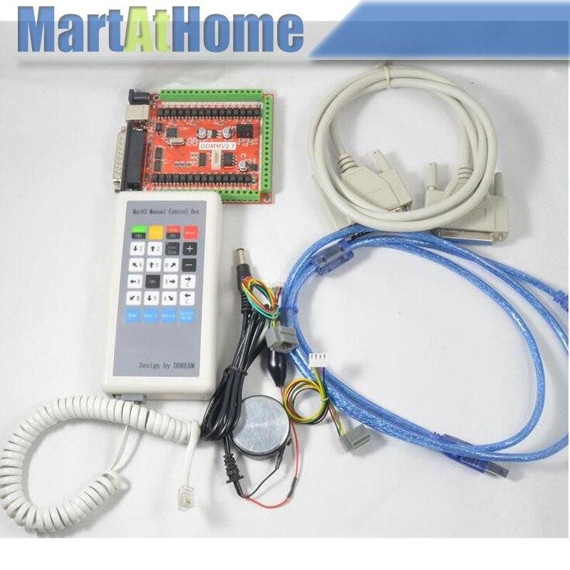 Argedo livraison gratuite CNC 6 axes USB LPT Mach3 Kit de carte de rupture avec boîte de contrôle manuelle pour contrôler le moteur pas à pas # SM706 @ CF