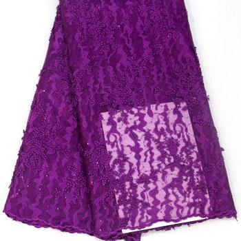 High quality and fashionable glitter lace fabric, evening dress, party dress with embroidered net material