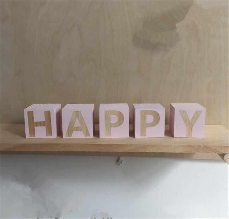 X O письмо строительный блок деревянная игрушка модель креативная детская комната товары INS ребенок Рождественский подарок на день рождения нордическая