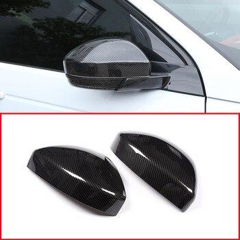 2 piezas de fibra de carbono estilo ABS plástico lateral retrovisor espejo cubierta de ajuste para Land Rover descubrimiento Sport Range Rover velar