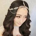 Корейский союзником горный хрусталь оставляет форма невесты свадебное повязку аксессуары для волос мягкая цепь Корона оптовая