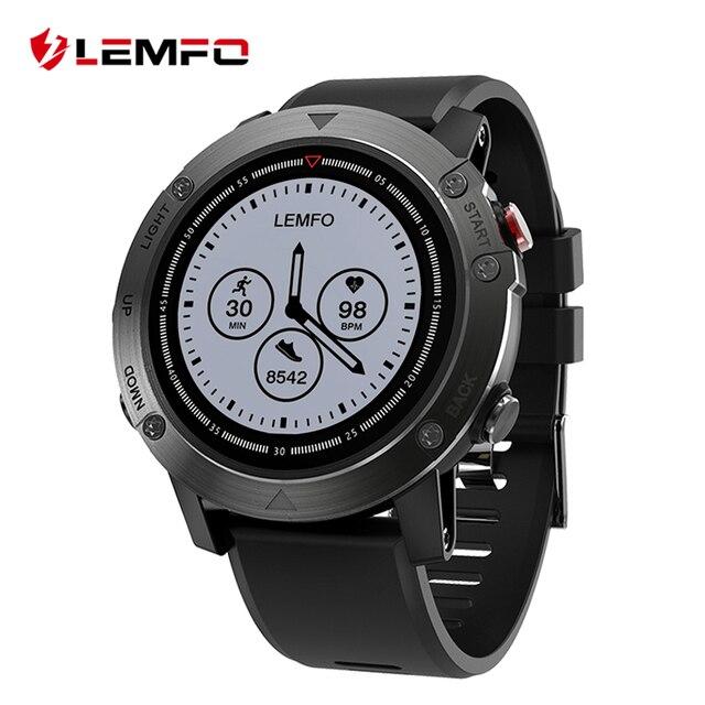 LEMFO LES3 GPS Smart Watch IP68 Waterproof Smartwatch Multiple Sport Modes Heart Rate Monitor