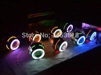 Круговой 2,8 дюймов ксеноновые объектив проектора авто противотуманные фары лампа с холодным катодом (CCFL) двойной Ангельские глазки 35 Вт HID т