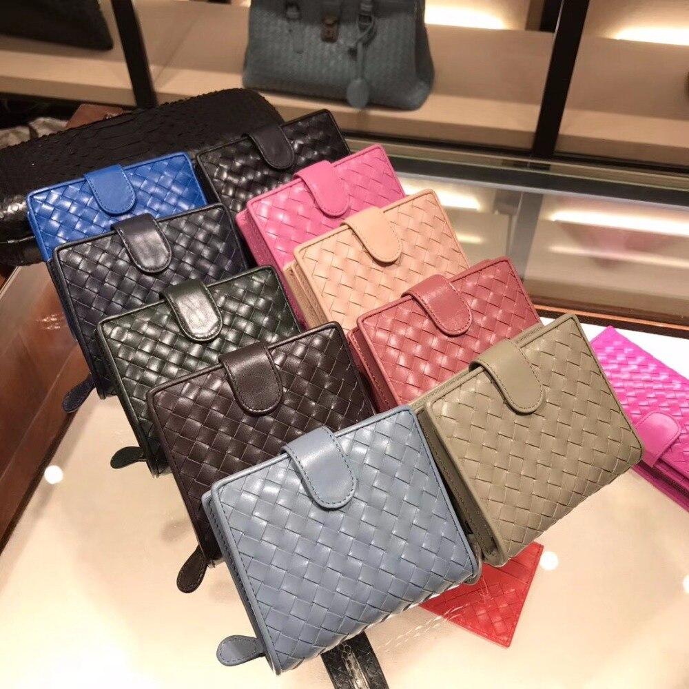 Sac à main femme 2019 carte à glissière position haute qualité en peau de mouton un petit sac à main en tricot véritable cuir