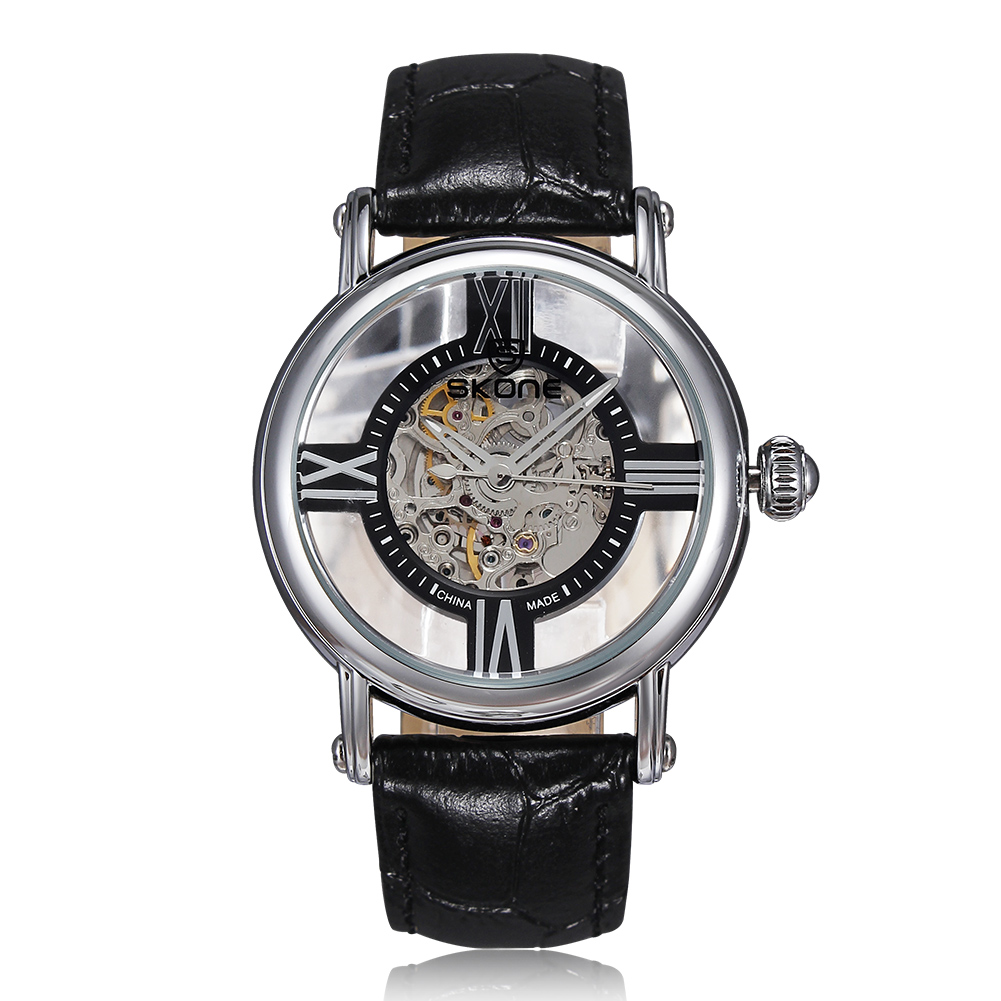 Luxury Brand Skone Skeleton Watches Automatic Womens Wristwatch Hollow Out Dial Rome Genuine Leather Bands Ladies Dress WatchLuxury Brand Skone Skeleton Watches Automatic Womens Wristwatch Hollow Out Dial Rome Genuine Leather Bands Ladies Dress Watch