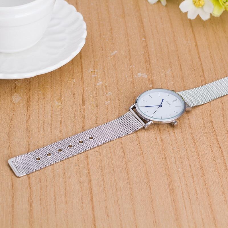 2017 nowa marka odzieżowa męski zegarek luksusowy srebrny pasek z - Zegarki damskie - Zdjęcie 5