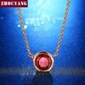 De Calidad superior ZYN453 Estilo Simple Un Cristal Rojo Collar de Rose Plateó Bisutería Libre Del Níquel Pendiente Cristalino