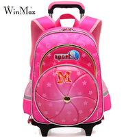 Trolley Children School Bags Kids Backpack With Wheel Reflective Luggage For Boys Girls Backpacks Wheeled Bag