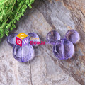 Fashion 55pcs/lot 34*37mm Purple Color Chunky Acrylic mouse Beads for Necklace jewelry