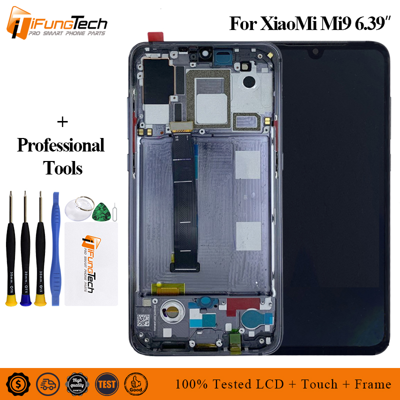 6 39 For Xiaomi mi 9 mi9 LCD Display Touch Screen Test Good Amoled Digitizer Assembly