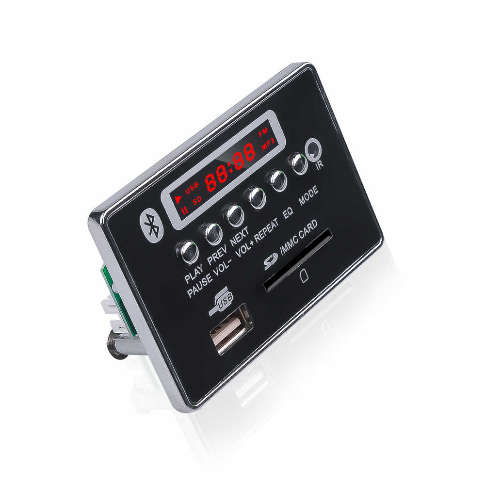 12V Bluetooth Radio WMA MP3 Decodering Board Audio Adapter Ondersteuning U-disk FM Ontvanger TF Card 3.mm AUX auto MP3 Speler Audio Module