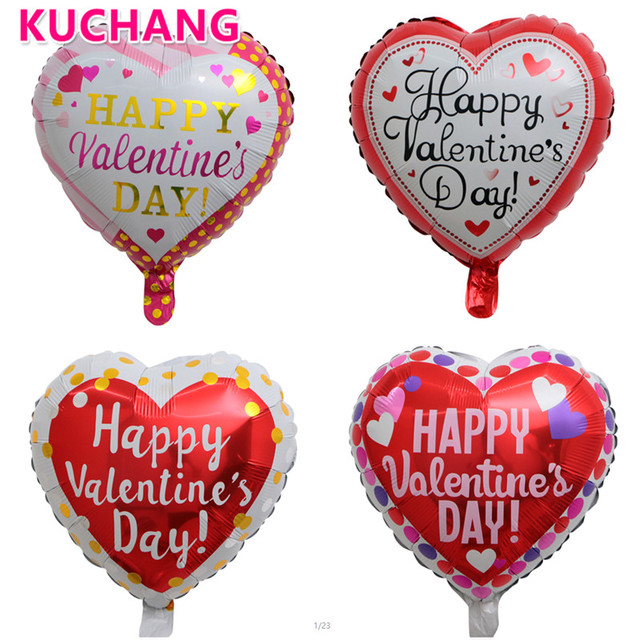 50pcs Happy Valentines Day Foil Balloons Anniversary Wedding