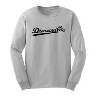 Loo Mostrar Mens Dreamville Registros de Manga Larga Camisetas Casual Hombres Camiseta