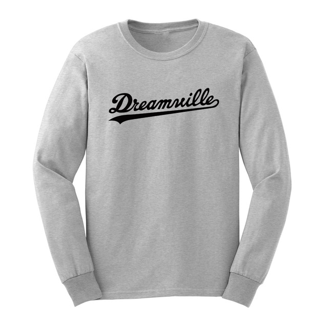 Loo Show Mens Dreamville Records Long Sleeve T Shirts Casual Men Tee