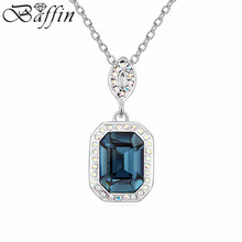 2016 Vintage Supreme Square Pendant Necklace Made With Swarovski Elements Crystal from Swarovski Women Men Jewelry(China)